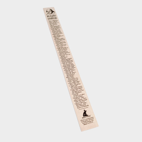 The Library Store Literature Ruler