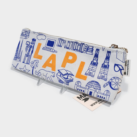 The Library Store Maptote X LAPL Pencil Pouch