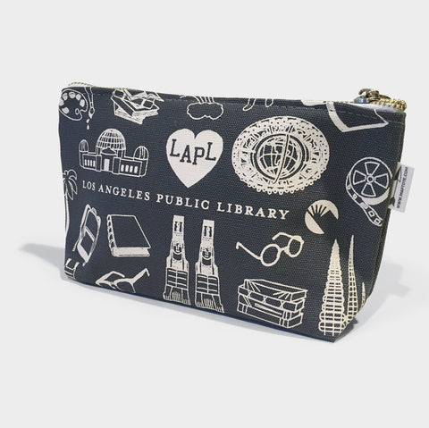 The Library Store Maptote X LAPL Zip Pouch