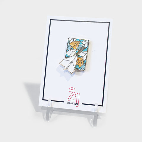 The Library Store Paper Airplane Enamel Pin