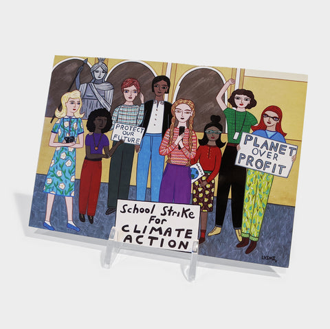 The Library Store School Strike for Climate Postcard