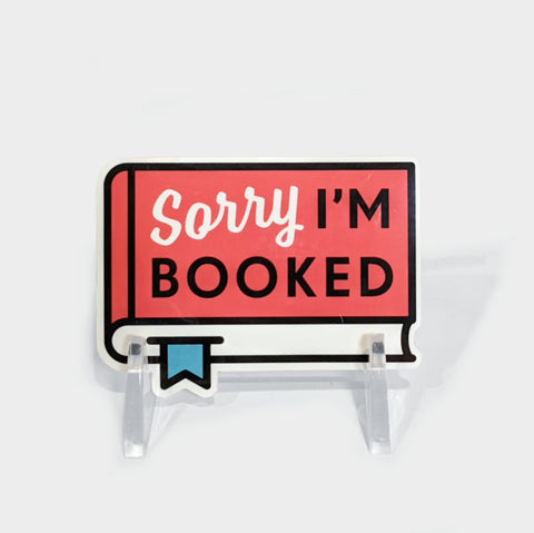 The Library Store Sorry Booked Sticker