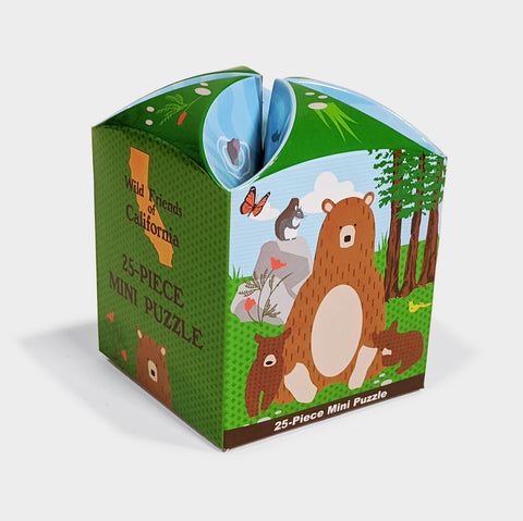 The Library Store Wild Friends of California, Bear Mini Puzzle