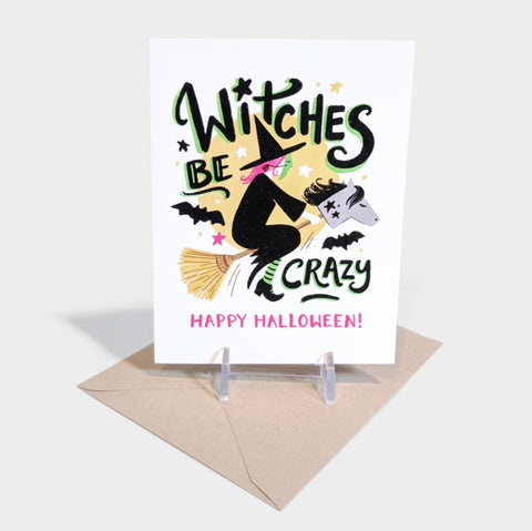 The Library Store Witches Be Crazy Card