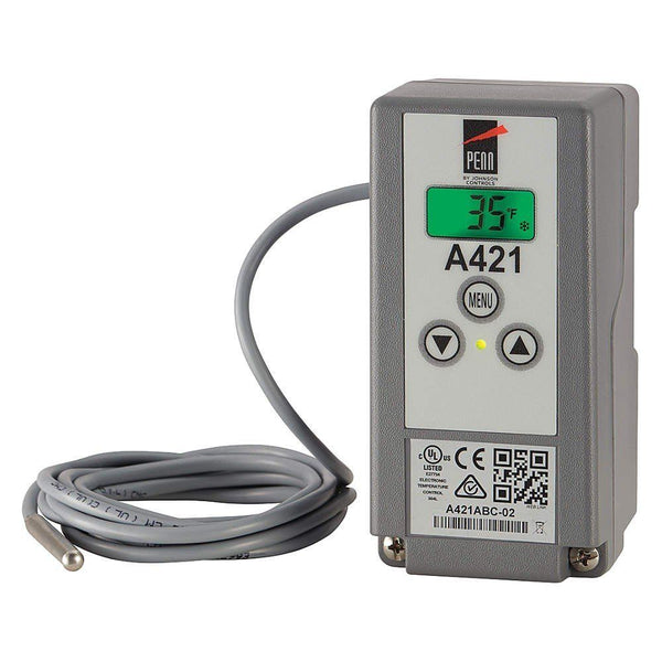 jci-a421abc-06c-single-stage-temp-controller-with-sensor-120-240vac-nema1-19-6-lead-40-to-212f-htg-clg