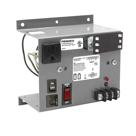 PSB40AB10-IC | FDI | UL508 Open Bracket Single 40VA 120-24Vac UL Class II pwr supply with10A Breaker
