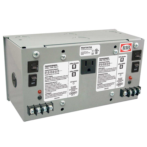 PSH75A75A | FDI | Enclosed Dual 75VA 120/208/240/277/480 to 24Vac UL class 2 power supply