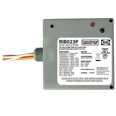 RIB023P | FDI | Enclosed Relay 20Amp 3PST 208-277Vac