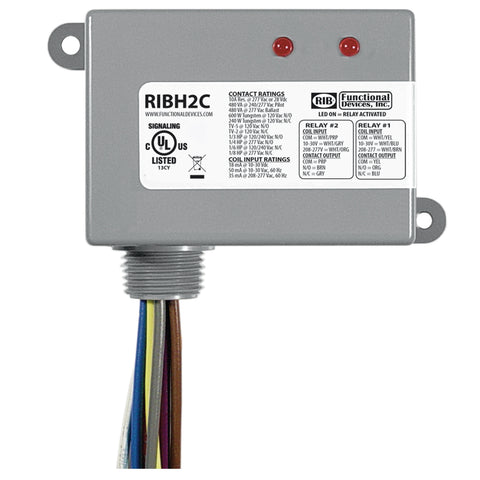 RIBH2C | FDI | Enclosed Relays 10Amp 2 SPDT 10-30Vac/dc/208-277Vac