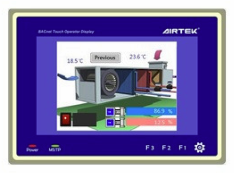 "NVT70P | Airtek | 7.0"" LCD BACNet Operator Touch Display Panel (B-OD)"