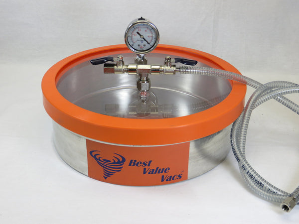 1.6 Gallon Flat Stainless Steel Vacuum Chamber | Wacky Tabacky Inc