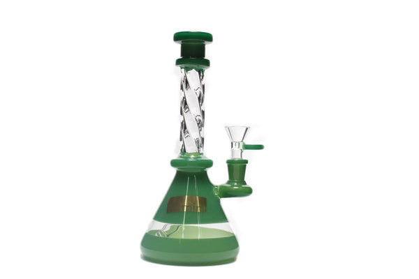 Mint Glass Twisted Bong JADE