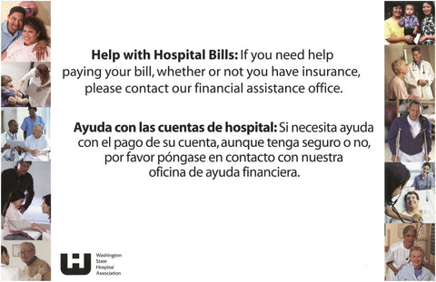 Financial Assistance Sign: English/Spanish