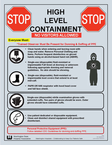High Level Containment Sign