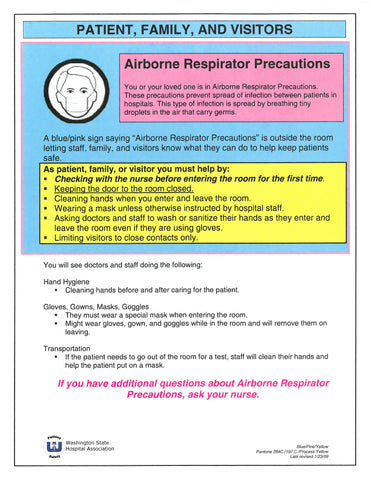 Patient and Family Education: Airborne Respirator Precautions
