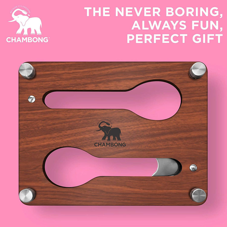 CHAMBONG – Chambong Holder for Easy Refills - Premium Wood Stand for All Chambong Sizes – Holds 2 Pieces