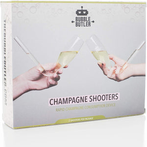 Champagne Flutes, Champagne Shooters, Guzzler Glasses - Champagne Bong Party, Prosecco Glasses, Bridesmaids Gifts, Bachelorette Party Favors, Outdoor Party (2 Pack)