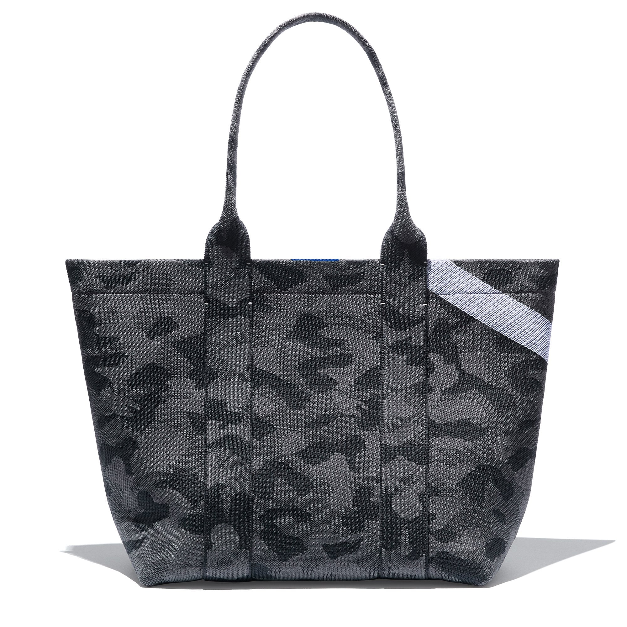 The Essential Tote in Slate Camo shown from the front.