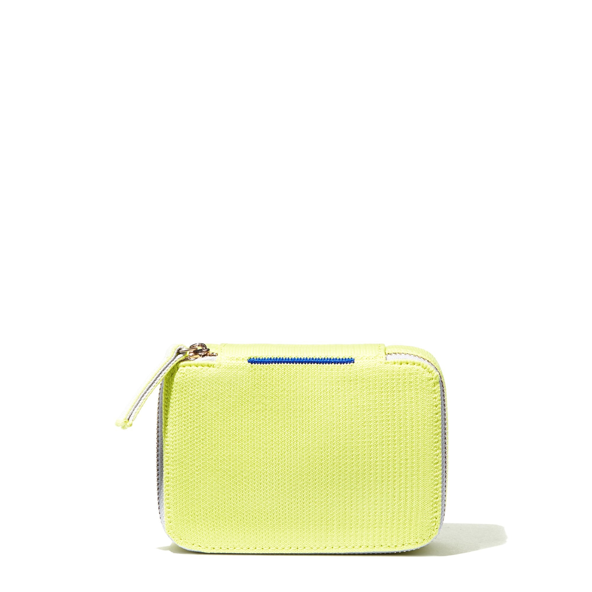 The Mini Catchall in Neon Lime shown from the front.