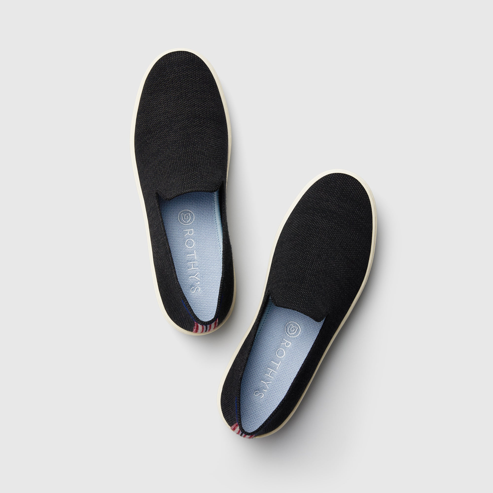The Merino Sneaker in Soft Black shown from the top view.