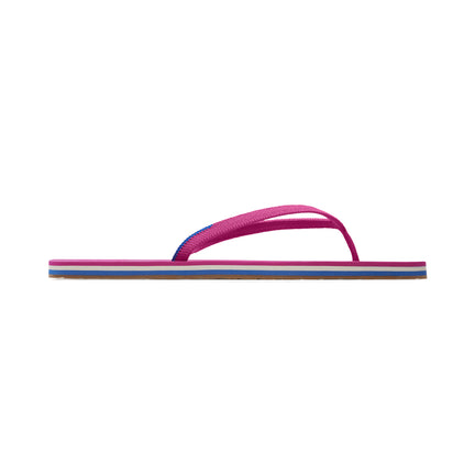 The Flip Flop sandal in Flamingo shown from a side view showing the outsole.