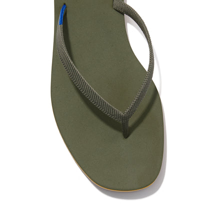 The Flip Flop sandal in Grasshopper shown from a front angle with strap detail.