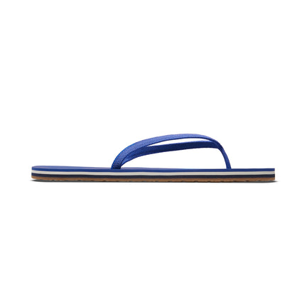 The Flip Flop sandal in Splash shown from a side view showing the outsole.