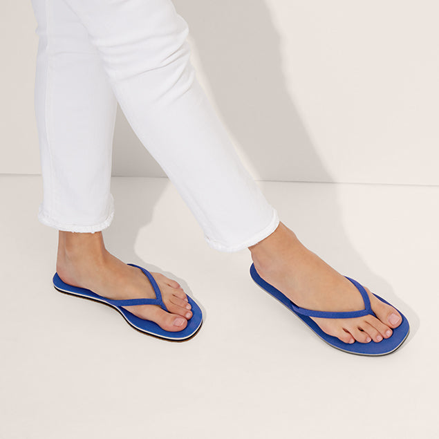 The Flip Flop sandal in Splash shown on-model at an angle.