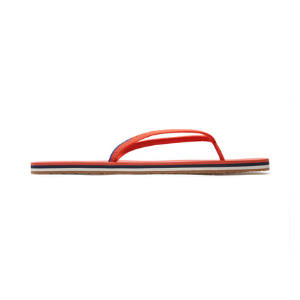 The Flip Flop sandal in Tiger shown from a side view showing the outsole.