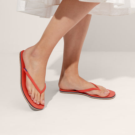 The Flip Flop sandal in Tiger shown on-model at an angle.