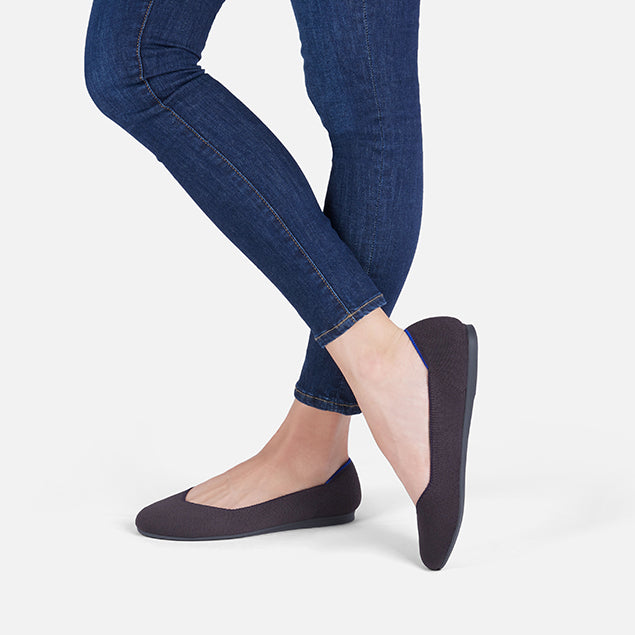 Womens flats washable round toe ballet flats for women rothys shale shale publicscrutiny Gallery