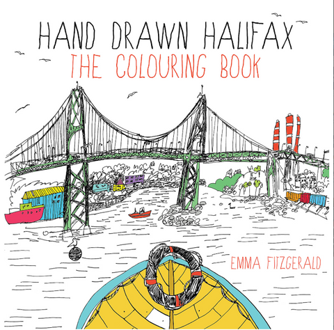 Hand Drawn Halifax: The Colouring Book by Emma FitzGerald