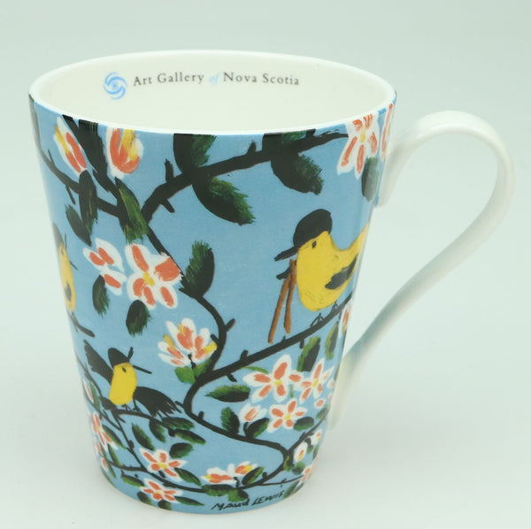 Maud Lewis Bone China Mug with Box - Yellow Birds