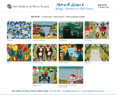 Maud Lewis Card Set (10) - Spring, Summer & Fall Scenes