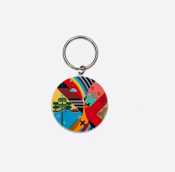 The Jordan Bennett Collection - Pjilita'q Mi'kmaki keychain
