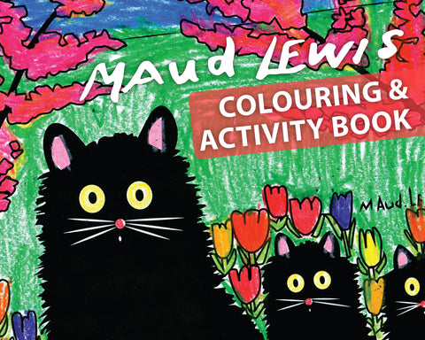 Maud Lewis Colouring and Activity Book: Three Black Cats