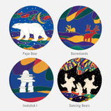 Glass Magnet Set of 4 - Indigenous Collection by CAP