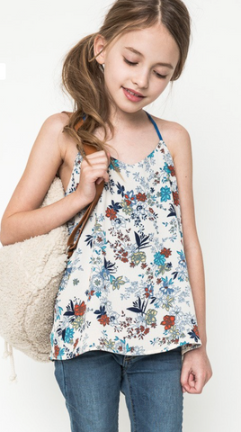 Girls Floral Cami Tank