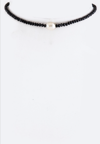 Pearl and Bead Choker