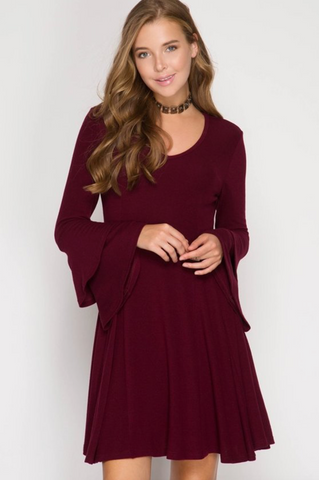 Belle of the Ball Bell Sleeve Dress
