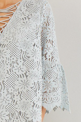 Laney Lace Top with Strappy Detail