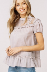 Smocked Cotton Blouse