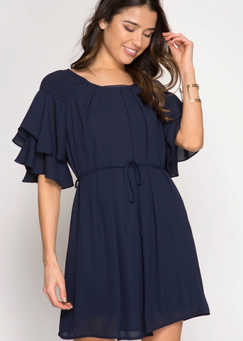 Navy Darby Dress
