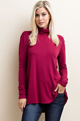 Burgandy Cut-Out Top