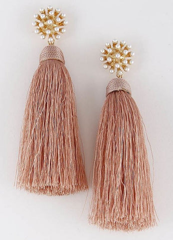 Tassel Me Pink Earrings