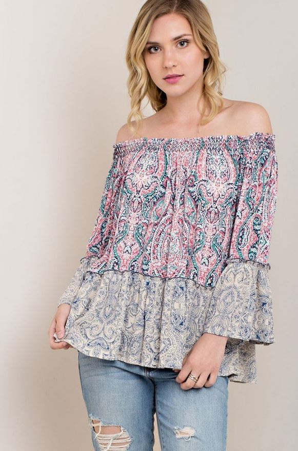 Paisley for Days Top
