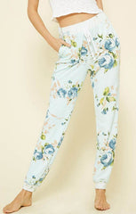 Mint Floral Cozy Pants