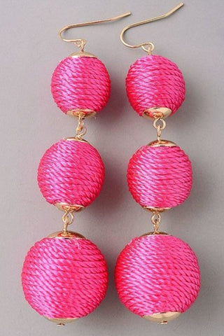 Trendy Statement Earrings - Pink, Black or Silver