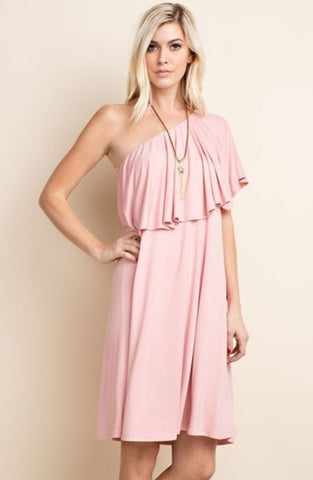 Bamboo Babe One-Shoulder Dress