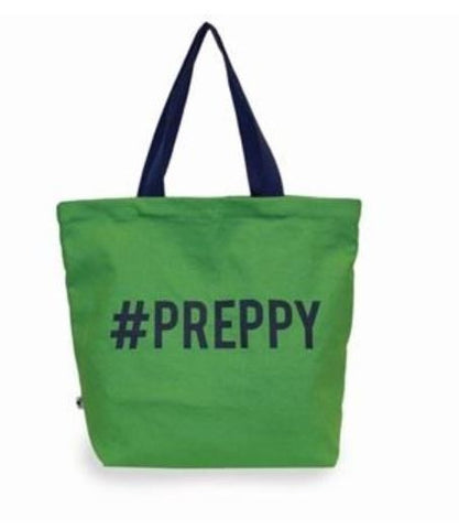 #Preppy Green Tote by Sloane Ranger